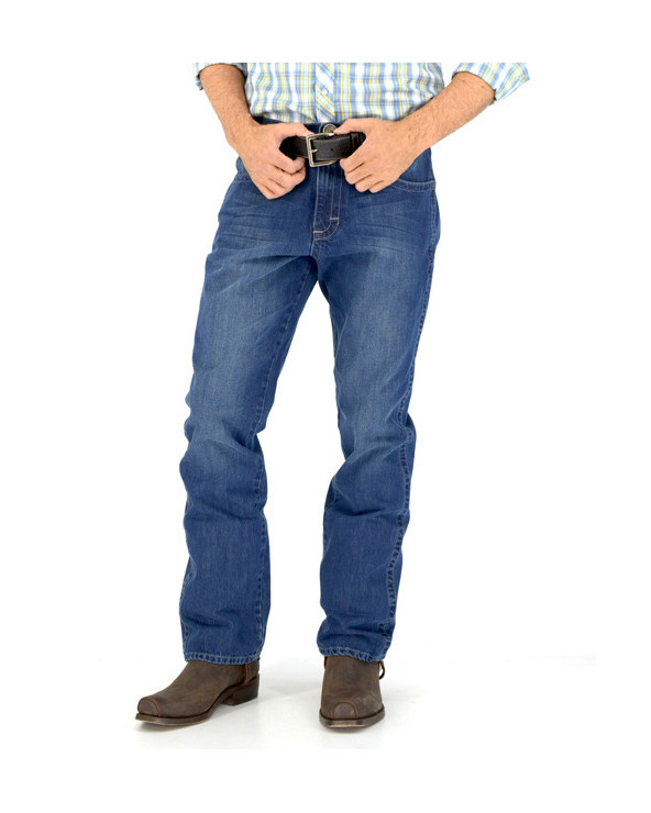 jeans western relaxed fit hombre índigo wrangler frontal